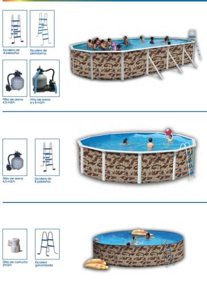 Piscinas rigidas modelo camuflaje aqua systems egara for Piscinas desmontables rigidas