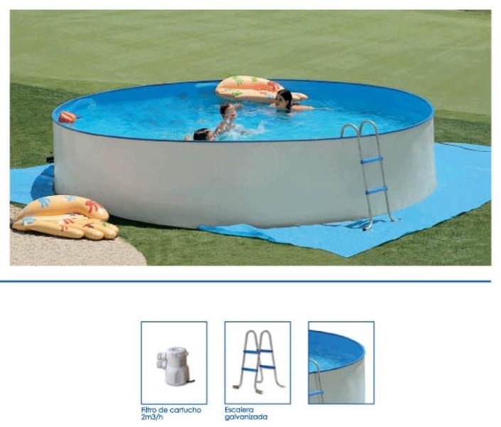 Piscina de pared de acero serie bromo aqua systems egara for Bromo para piscinas